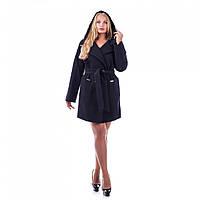 Пальто женское демисезонное с капюшоном в 4х цветах МК-151/1