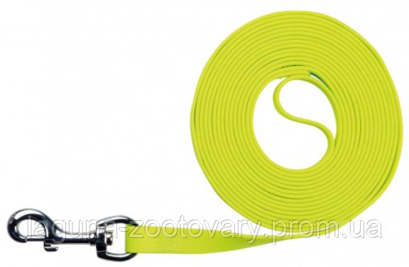 """Поводок """"Изи Лайф"""" 12.5м/10мм для тренировки собак, неоновый желтый"""