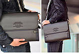 Каркасная мужская сумка-портфель ZEFER. Стильные мужские сумки. Качественные мужские сумки., фото 2