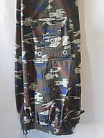 Мужские штаны трикотаж (46-54 раз.)  норма на флисе №3223