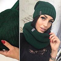 Вязаная шапка и шарф-хомут (очень много цветов)