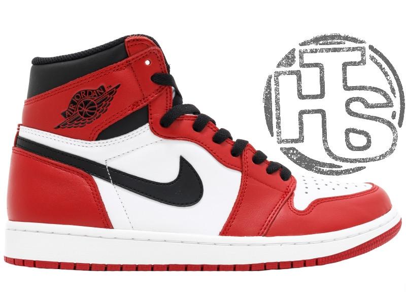 05552be5 Женские кроссовки Air Jordan 1 Retro HI OG Chicago 555088-101 -  Интернет-магазин