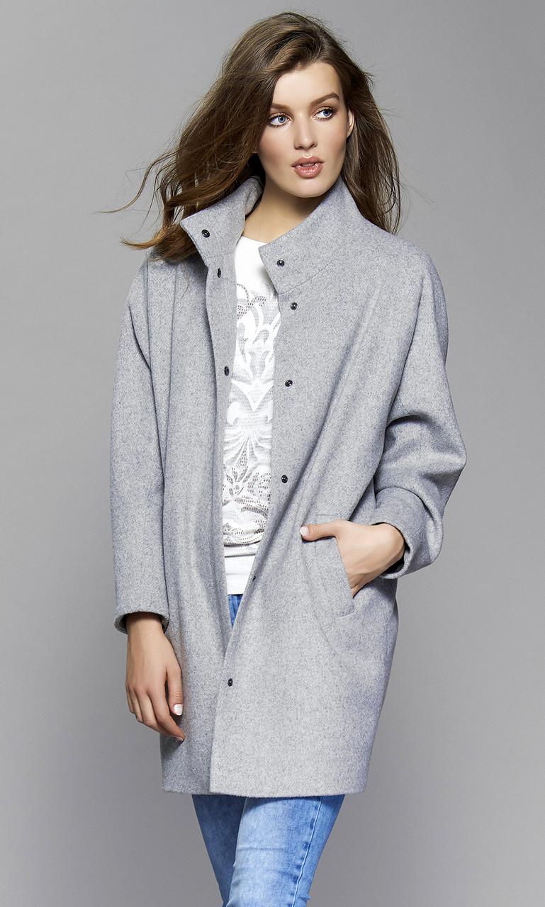 0b3ccd97709 Купить Женское пальто Tris Zaps серого цвета