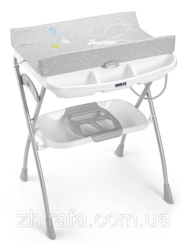 Пеленальный столик CAM Volare с ванночкой  Серый с зайцем