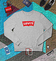 Свитшот мужской серый Левис Levis grey