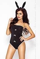 Эротический костюм кролика с ушками Passion Erotic Line MAGNETICA SET черный