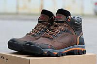 Мужские зимние кроссовки Merrell код 3221 коричневые