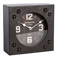 Часы настольные металлические квадрат