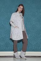 Жіночий костюм-трійка для дому із легким халатом HAYS 17011 S