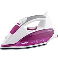 Утюг Vitek VT-1262 / White/Pink / 2400W / Вертикальное отпаривание / Защита от накипи / Материал под