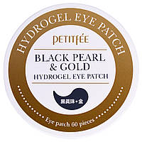 Патчи под глаза Petitfee, Black Pearl & Gold Hydrogel Eye Patch