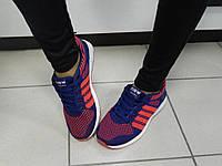 Кроссовки женские синие, красные