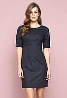 Женское платье Tacjana Zaps цвета графит. Коллекция осень-зима