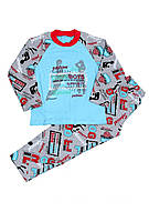 Пижама детская на байке для мальчика спорт 32-34р.(116-122см) МТФ