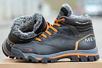 Мужские зимние кроссовки Merrell код 3220 черные