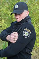 """Флисовая куртка """"POLICE"""", черная"""