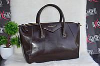 Коричневая кожаная сумка Givenchy (Живанши).