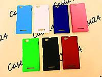 Чехол накладка Alisa для Sony Xperia M / C2005 / C1905 (7 цветов)