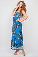 Сарафан женский на бретельках синий цвет №19PG029