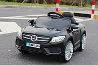 Детский электромобиль Mercedes M 2772 EBR-2 черный, мягкие колеса и амортизаторы