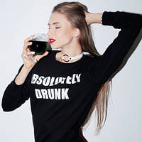Свитшот стильный | Кофта Absolutely Drunk logo