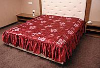 Покрывало на двухспальную кровать. Гамма. 180*210.Бордовый.