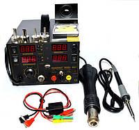 Паяльная станция цифровая с феном ExTools 909D+, 800W, 100-450*C, фото 1