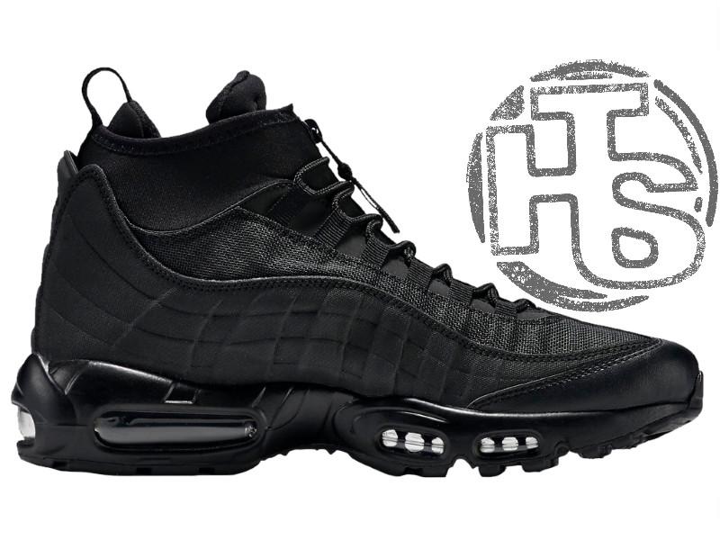ca0c527f Мужские кроссовки Nike Air Max 95 Sneakerboot Triple Black 806809-002 -  Интернет-магазин