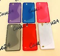 Силиконовый чехол Duotone для Sony Xperia C4 Dual E5333 (6 цветов)