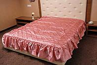Покрывало стеганное атласное Гамма.180*210.Розовое.