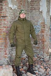 """Зимний костюм-горка """"Варяг"""", 100%х/б палатка, олива + флисовая подкладка"""