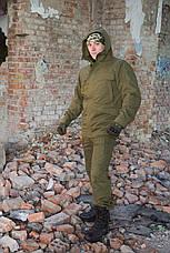 """Зимний костюм-горка """"Варяг"""", 100%х/б палатка, олива + флисовая подкладка, фото 3"""