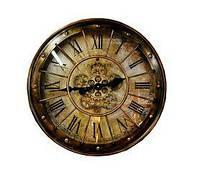 Часы настенные с имитацией открытого механизма