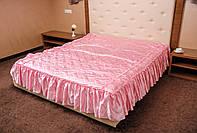 Покрывало стеганное атласное Гамма.180*210.Нежно розовое.
