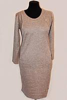 Теплое женское платье большого размера 1809/1