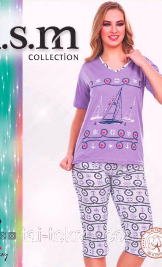 Пижама футболка с бриджами KSM № 5021