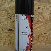 Аэрозольная акриловая краска для дерева Belife EcoPaint 350мл 40 белая