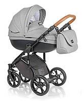 Детская универсальная коляска 2 в 1 ROAN Bass Soft Grey Powder, серый (7224)
