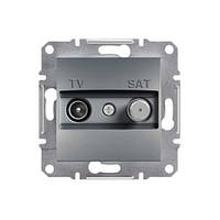 Розетка Schneider-Electric Asfora Plus TV-SAT концевая (1 дБ) сталь