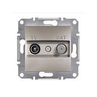 Розетка Schneider-Electric Asfora Plus TV-SAT концевая (1 дБ) бронза