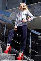 Женскийспортивный костюм Margo1 с орнаментом  цвет Синий