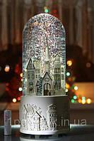 """Музыкальная Колба """"Город с флюгелем"""". Эксклюзивный подарок! (США) Высота 25 см."""