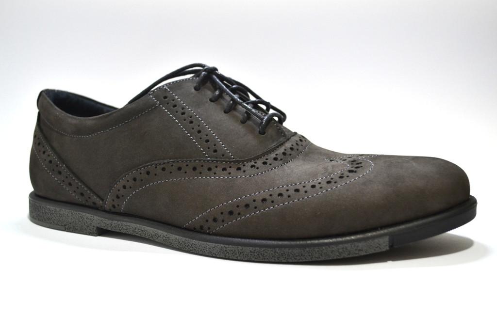 Туфли броги мужские нубук Rosso Avangard Persona Loft коричневые
