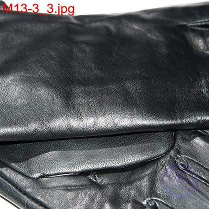 Мужские демисезонные перчатки из качественной кожи - M13-3 до 20 см, фото 3