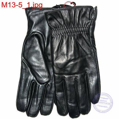 Мужские кожаные перчатки (лайка) с махровым утеплителем - M13-5 до 20 см, фото 2