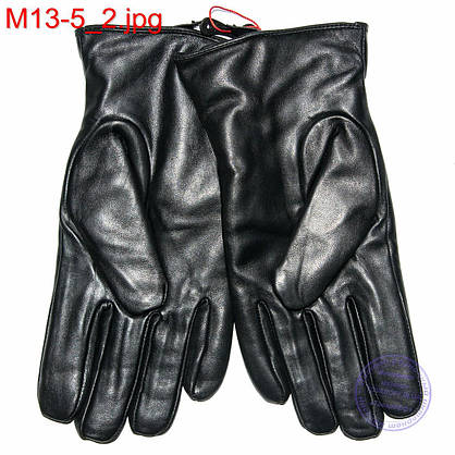 Мужские кожаные перчатки (лайка) с махровым утеплителем - M13-5 до 20 см, фото 3
