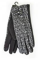 Зимние перчатки с декоративным бантиком