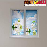 Рулонные шторы с фотопечатью цветы на воде