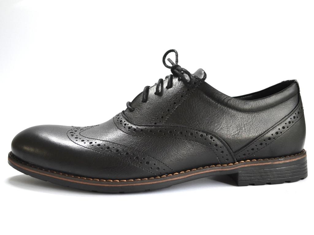 Туфли мужские кожаные броги Rosso Avangard Felicete Uomo Black Pelle черные