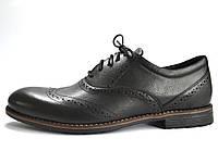 Туфли мужские кожаные броги Rosso Avangard Felicete Uomo Black Pelle черные, фото 1